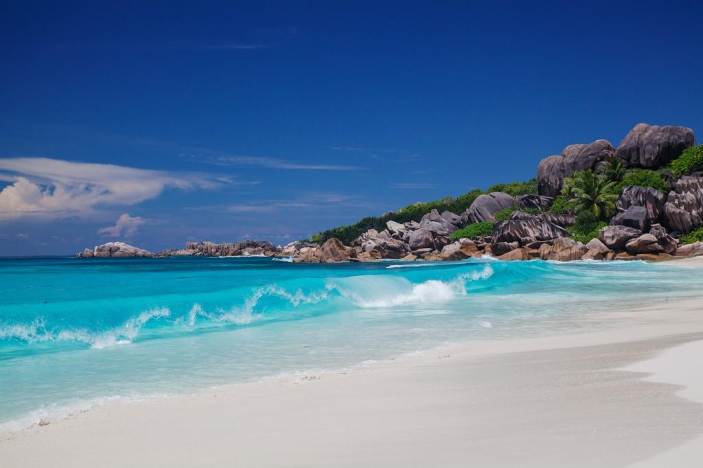 Фото пляжа на Сейшелах.