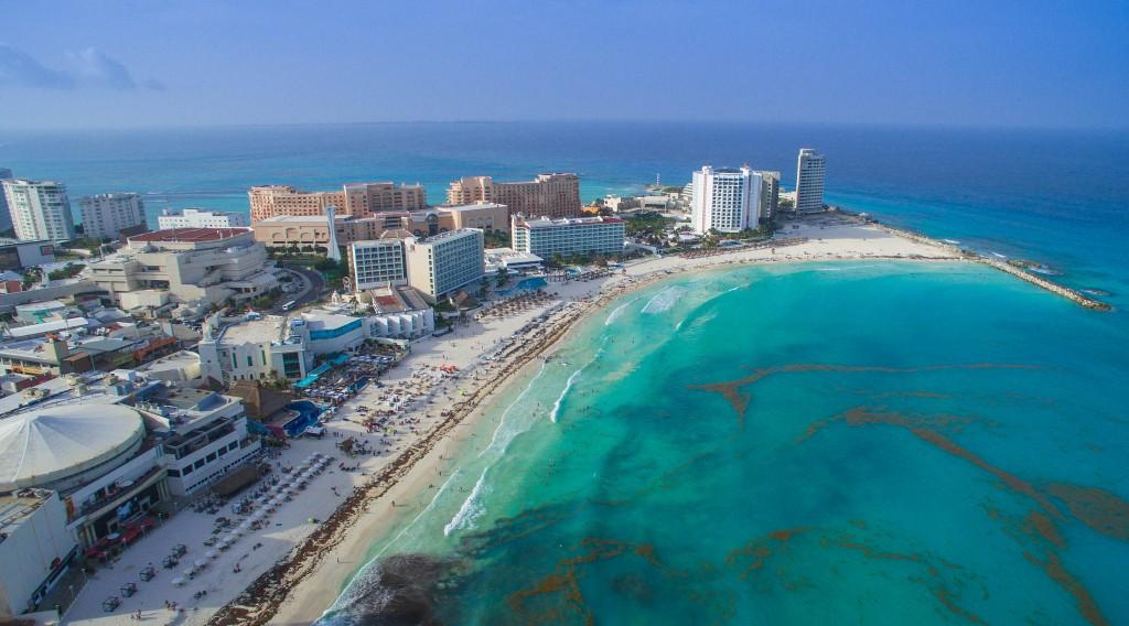 Фото пляжа в Мексике (Канкун)
