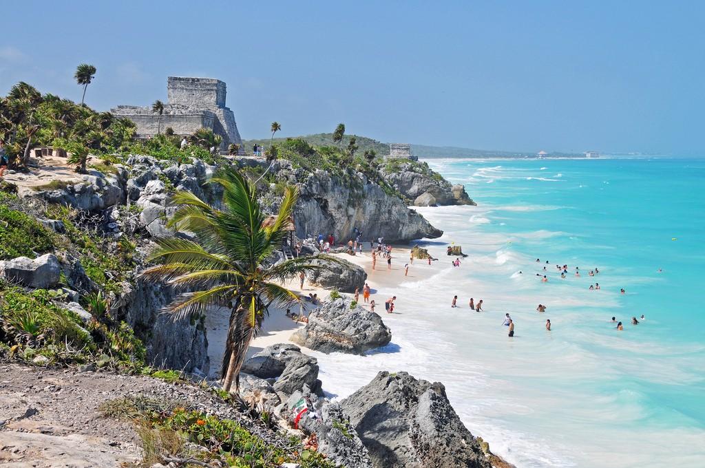 Фото пляжа в Мексике.