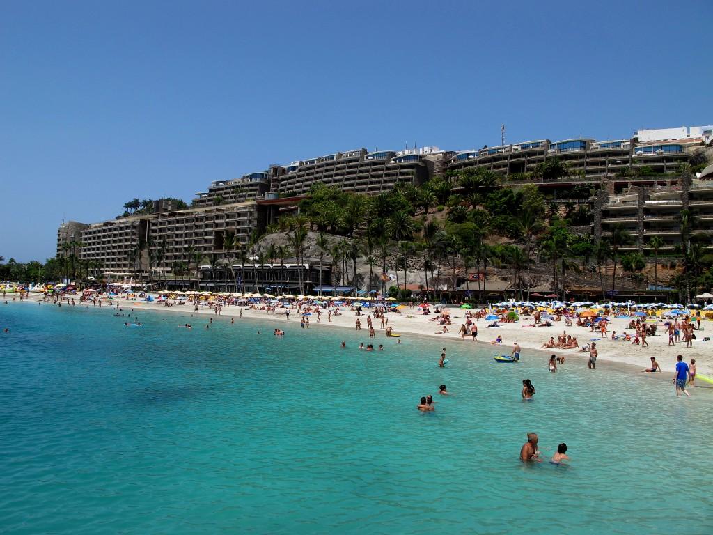 Фото пляжа на Канарских островах (Гран-Канария).