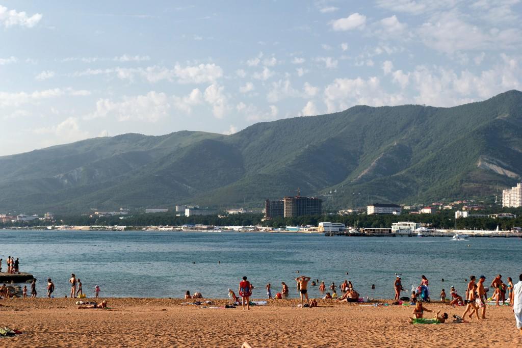 Фото пляжа на Черном море.