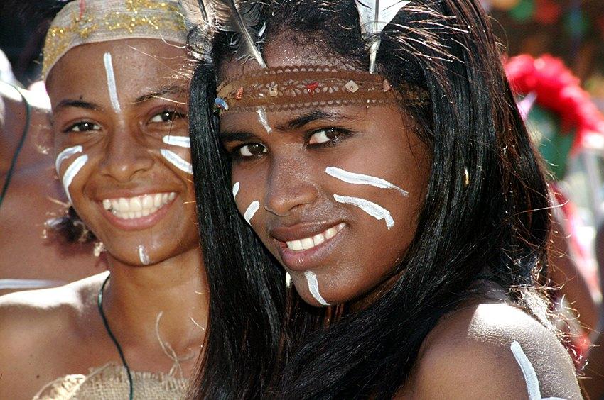Фото жителей Доминиканы во время карнавала