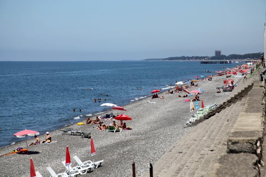 Фото пляжа в Батуми
