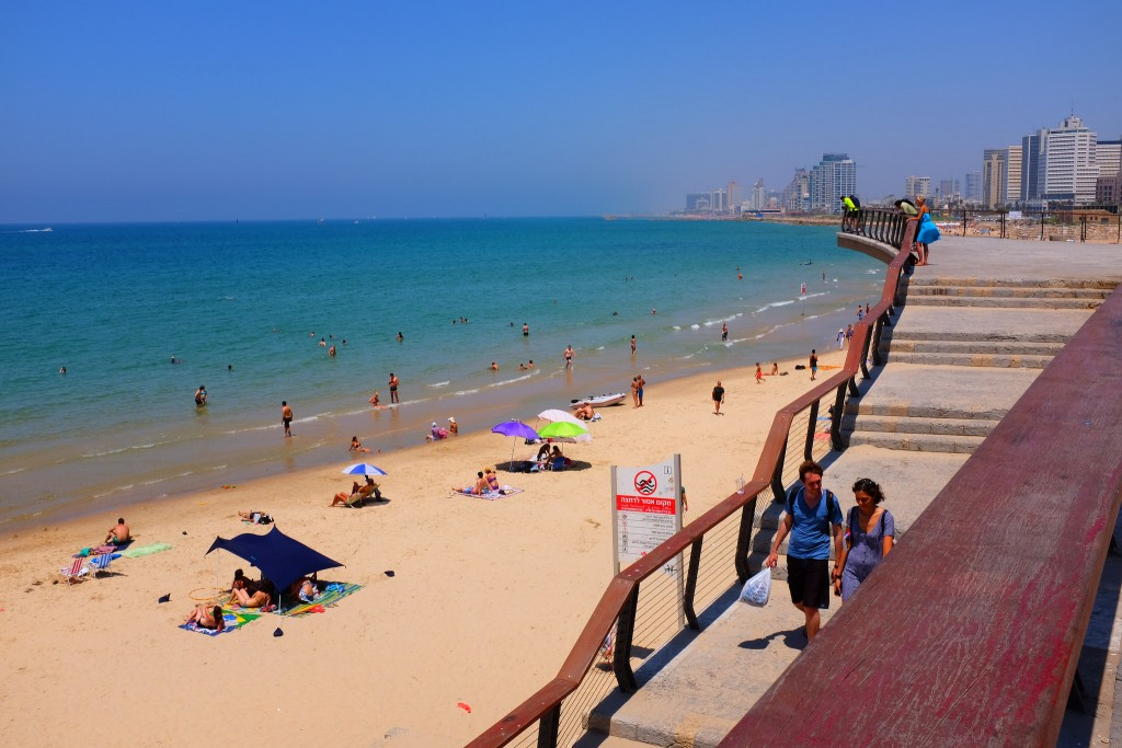 Фото пляжа в Израиле (Средиземное море).