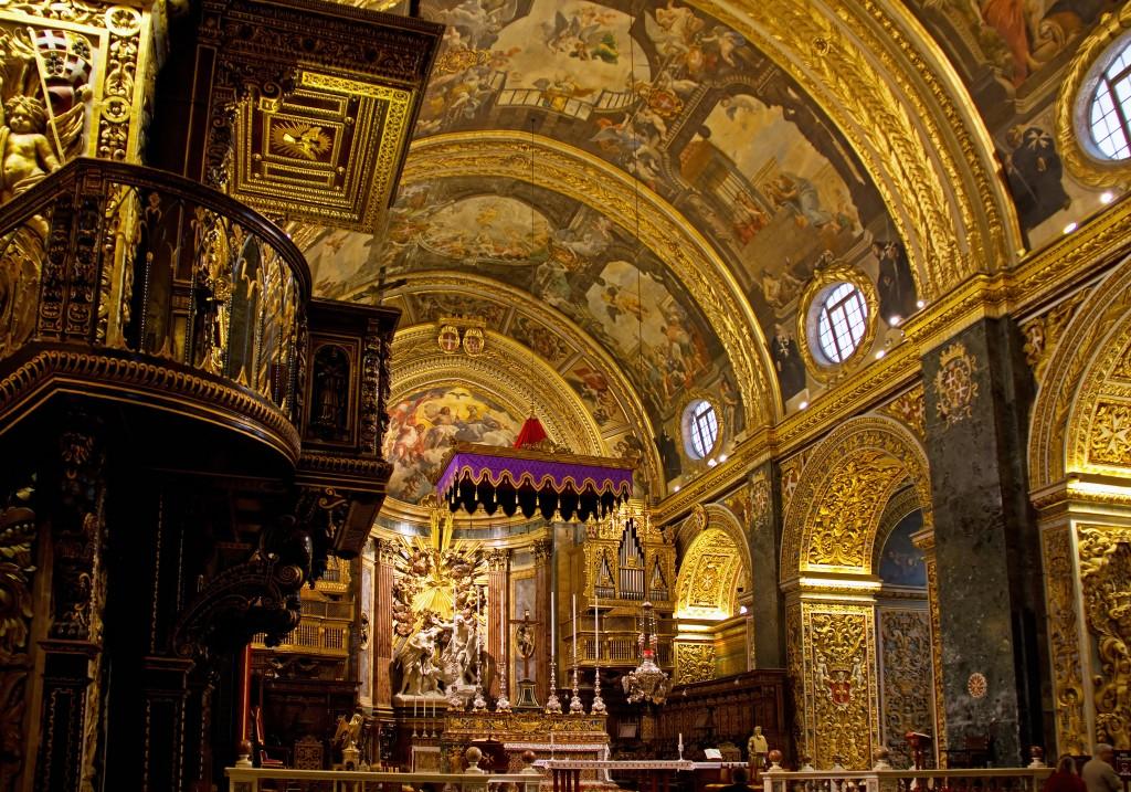 Фото католического храма на Мальте