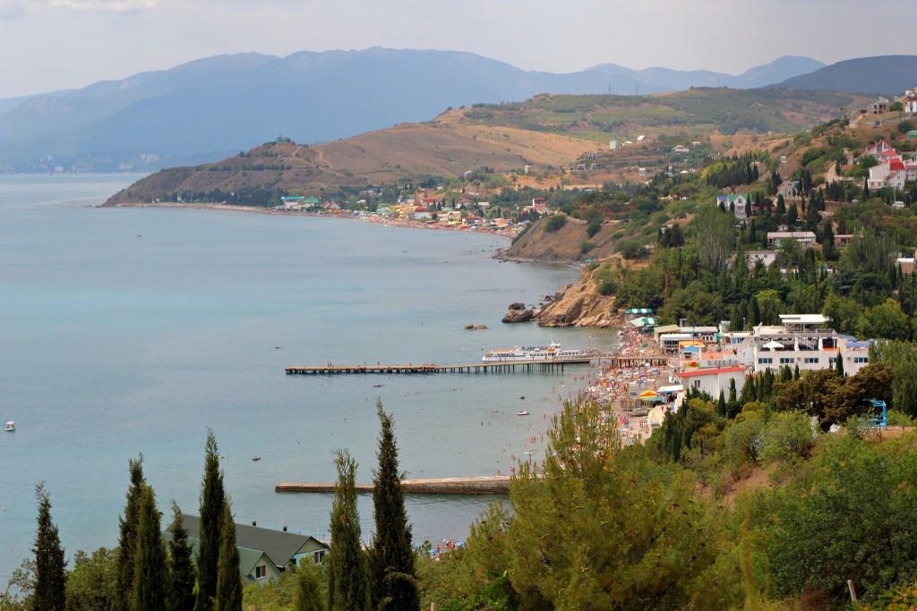 Фото пляжа в Крыму.