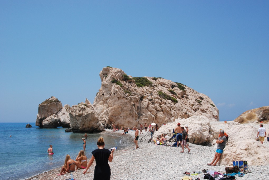 Фото пляжа в Пафосе.