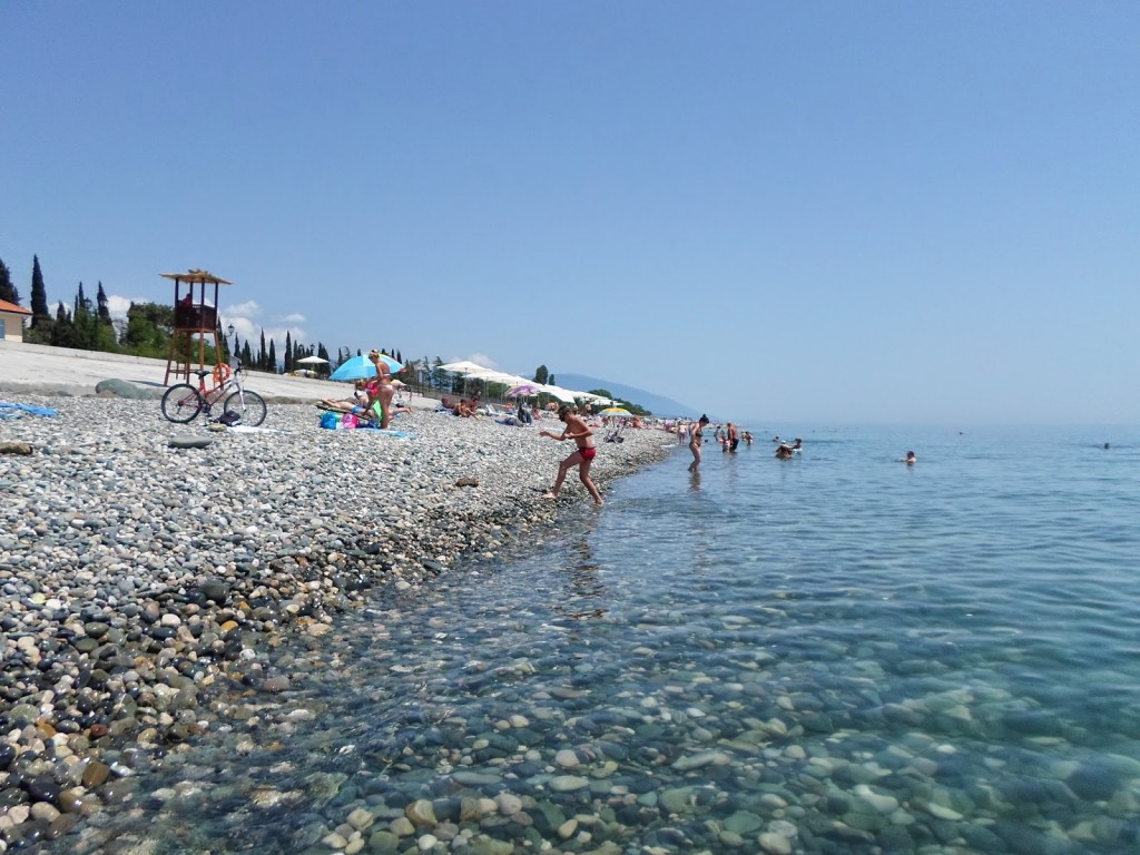 Фото пляжа в Адлере