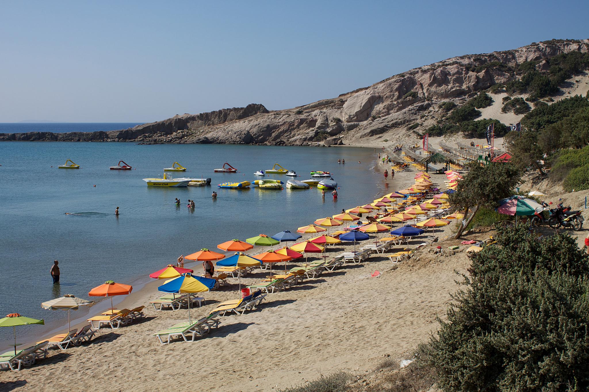 Фото пляжа на острове Кос