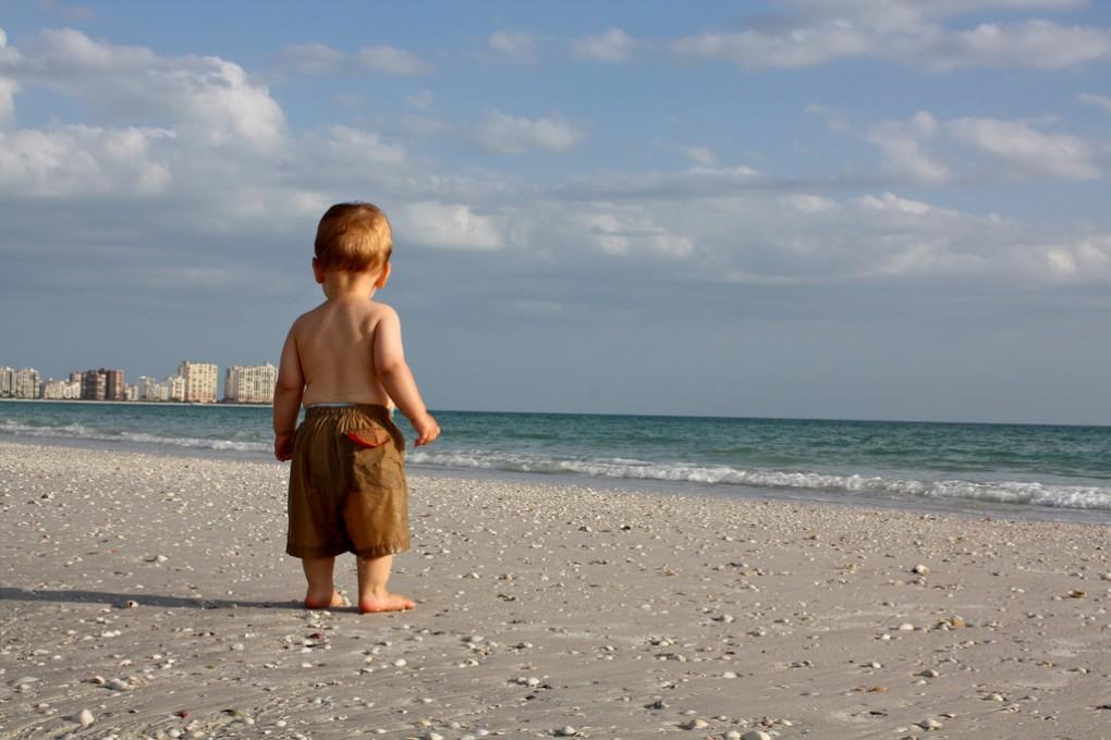 Фото отдыха с ребенком у моря
