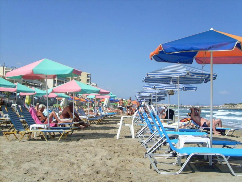 Фото пляжа в Ретимно.