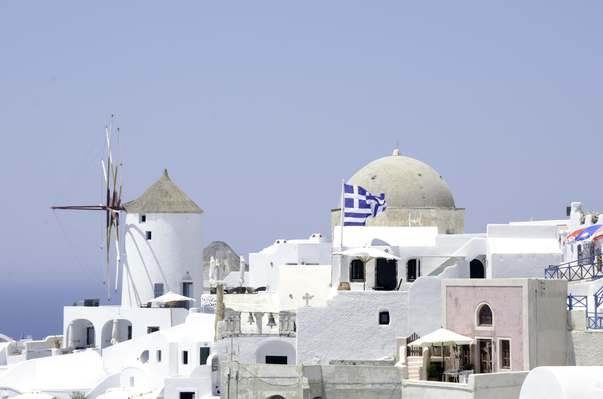 Фото города Фира на острове Санторини