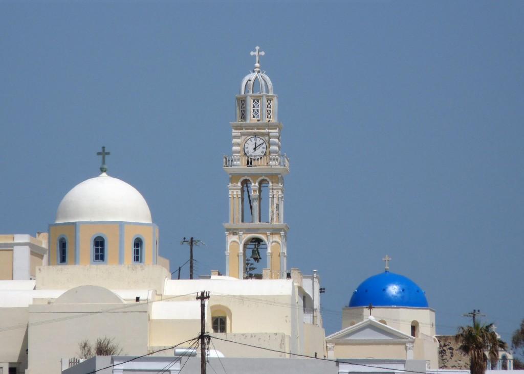 Фото католического Кафедрального собора на острове Санторини