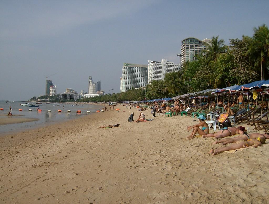 Фото центрального пляжа в Паттайе