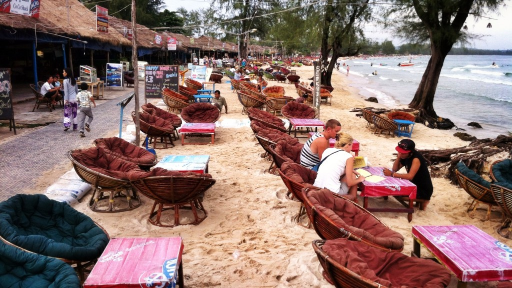 Фото пляжа Серендипити в Сиануквиле.