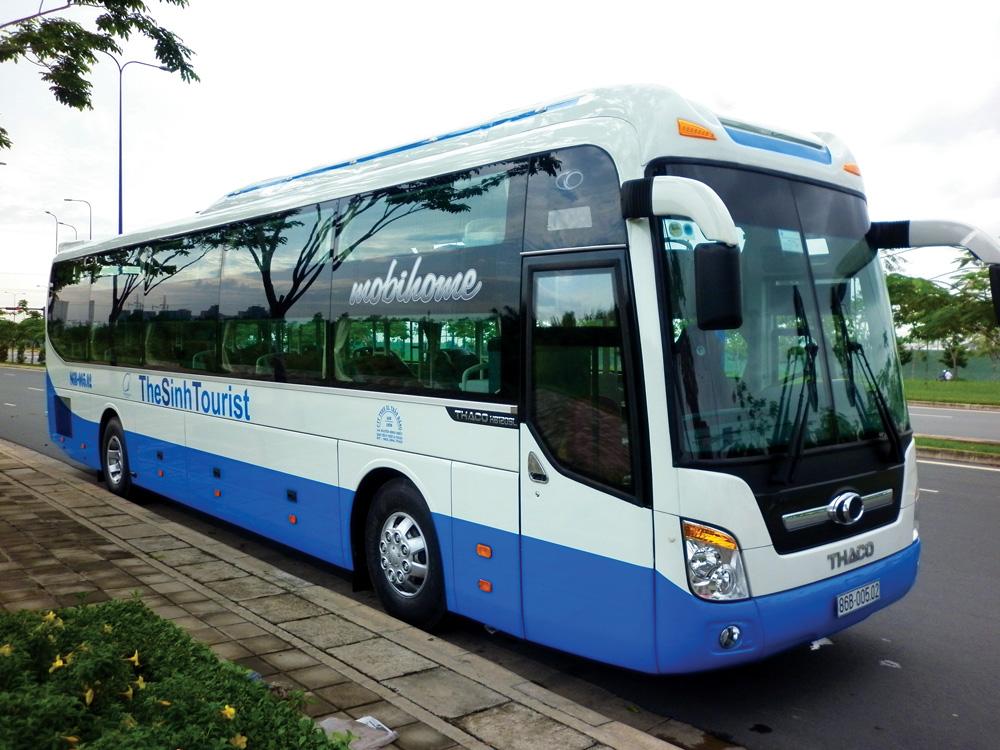 Фото междугороднего автобуса во Вьетнаме.