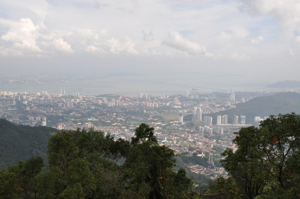 Фото вида с холма Пенанг.