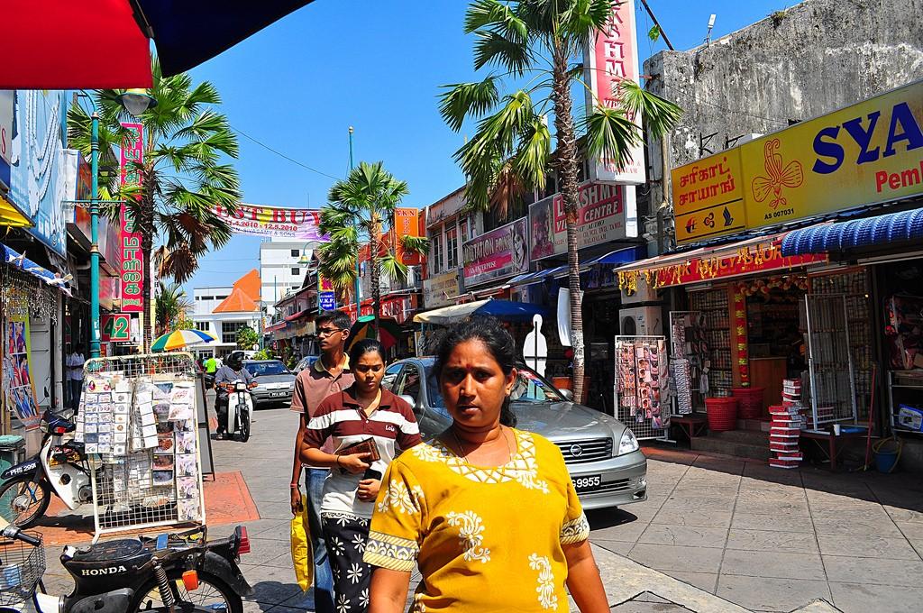 Фото улицы в маленькой Индиина Пенанге. Автор: