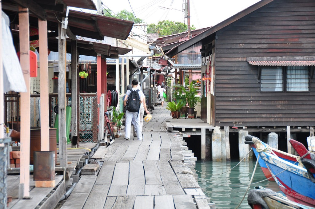 Фото деревни Chew Jetty на Пенанге